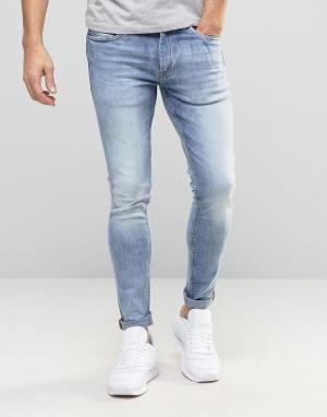 Ringspun Зауженные джинсы. Цвет: синий