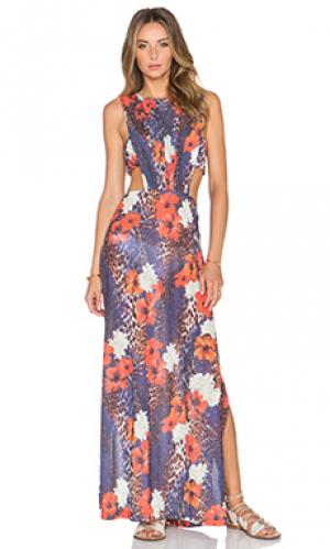 Макси платье paradise AGUADECOCO. Цвет: красный