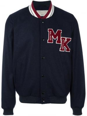 Куртка с нашивками Maison Kitsuné. Цвет: синий