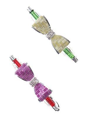 Заколка-автомат (комплект - 2 шт.) Infiniti. Цвет: зеленый, фиолетовый, красный, желтый