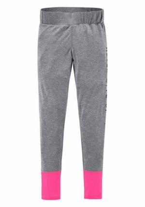 Легинсы Kangaroos. Цвет: светло-серый меланжевый/ярко-розовый