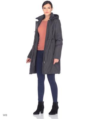 Пальто EEVI Maritta. Цвет: антрацитовый