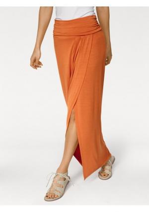 Юбка макси Rick Cardona. Цвет: оранжевый