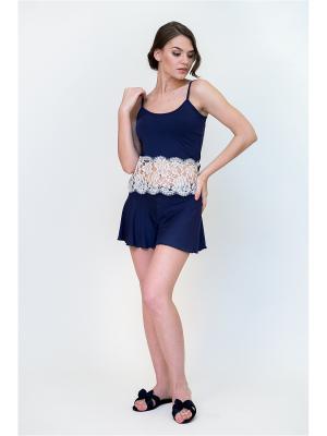 Пижама Petit Pas. Цвет: темно-синий