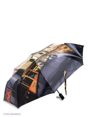Зонт Flioraj. Цвет: темно-серый, бежевый