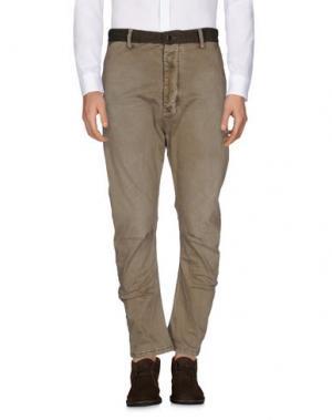 Повседневные брюки YES ZEE BY ESSENZA. Цвет: хаки