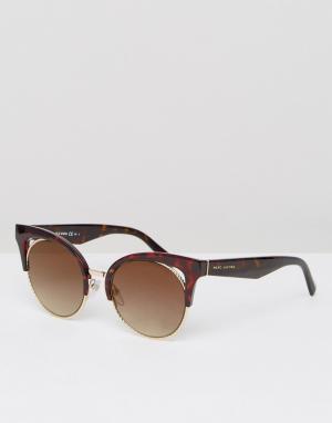 Marc Jacobs Черепаховые солнцезащитные очки кошачий глаз. Цвет: коричневый