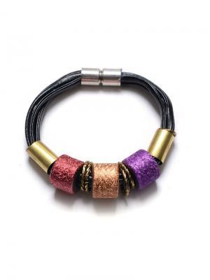 Браслет ЭТНИКА лиловый BRADEX. Цвет: темно-фиолетовый, бордовый, рыжий