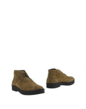 Полусапоги и высокие ботинки ANDREA VENTURA FIRENZE. Цвет: зеленый-милитари