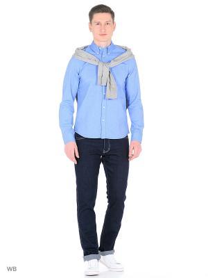 Рубашка Wrangler. Цвет: голубой