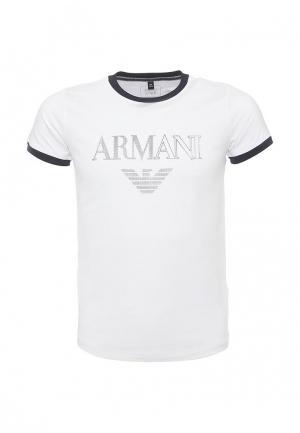 Футболка Armani Junior. Цвет: белый