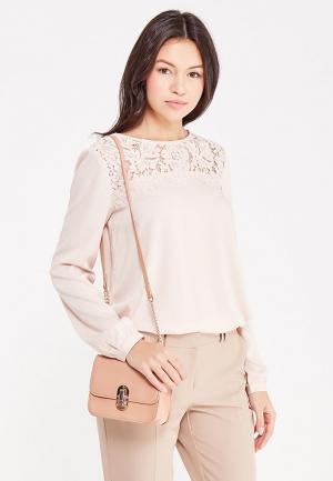 Блуза Zarina. Цвет: бежевый