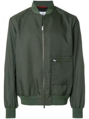 Zipped bomber jacket Oamc. Цвет: зелёный