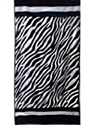 Полотенце велюровое, дизайн ZEBRA, 70х140 Dorothy's Нome. Цвет: черный