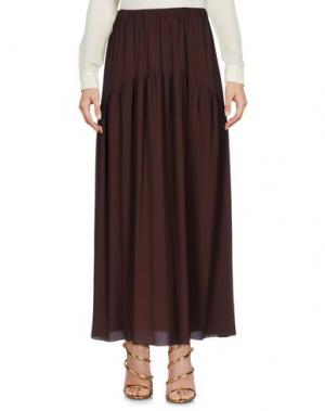 Длинная юбка CARLA G.. Цвет: темно-коричневый