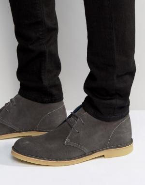 Dune Замшевые ботинки чукка Calabassas. Цвет: серый