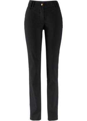 Узкие брюки из бенгалина с пятью карманами (черный) bonprix. Цвет: черный