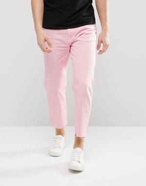 Dr Denim Укороченные джинсы с необработанным низом Otis. Цвет: розовый
