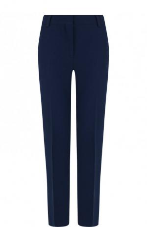 Укороченные брюки из смеси хлопка и шелка со стрелками Emilio Pucci. Цвет: темно-синий