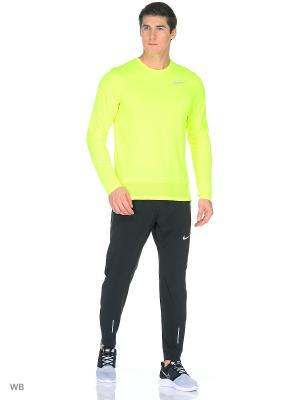 Лонгслив M NK BRTHE RAPID TOP LS Nike. Цвет: желтый