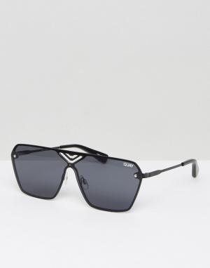 Quay Australia Солнцезащитные очки в квадратной оправе Stargaze. Цвет: черный