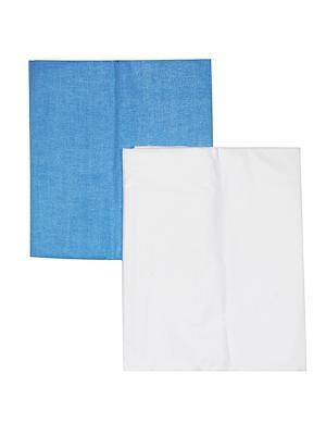 Комплект пеленок КОТМАРКОТ. Цвет: белый, голубой