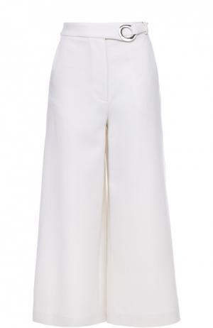 Укороченные широкие брюки с поясом Proenza Schouler. Цвет: белый