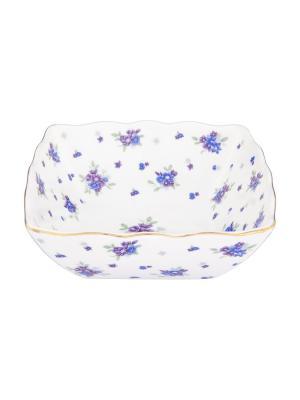 Салатник Сиреневый туман Elan Gallery. Цвет: белый,голубой,сиреневый