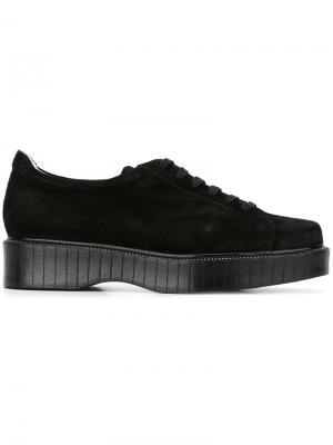 Туфли на шнуровке Pasket Robert Clergerie. Цвет: чёрный