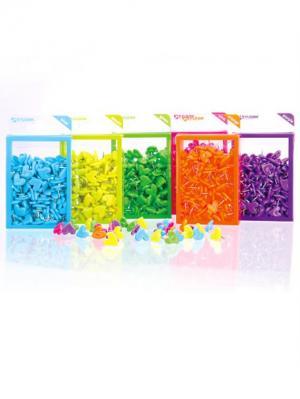 Кнопки Сердечки в ассорт. Box /100 шт. Склад Уникальных Товаров. Цвет: голубой, желтый, зеленый, розовый
