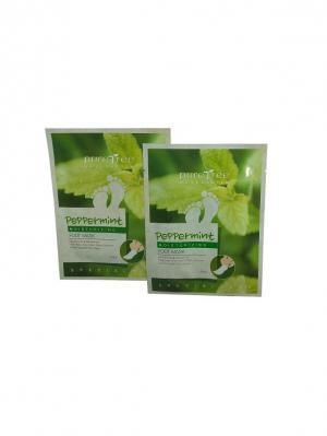 Набор Маска-носочки для ног с экстрактом перечной мяты PURE TREE 32 гр. 2 штуки. Цвет: зеленый, светло-зеленый