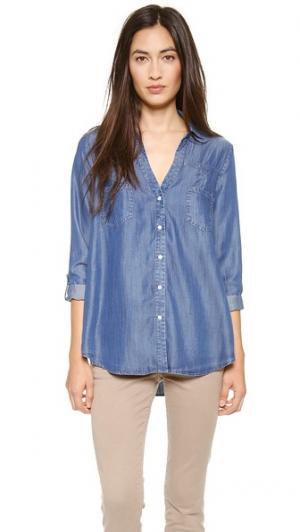 Блуза на пуговицах Brady Soft Joie. Цвет: голубой