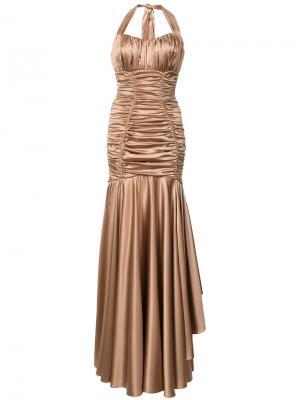Ruched gown Dolce & Gabbana. Цвет: коричневый