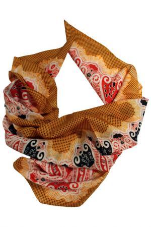 Шелковый платок SHALBE. Цвет: оранжевый