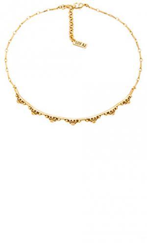 Ожерелье с подвесом the baroque Luv AJ. Цвет: металлический золотой