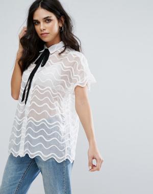 Little White Lies Кружевная рубашка Simone. Цвет: белый