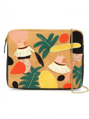 Клатч Explorers Club Lizzie Fortunato Jewels. Цвет: жёлтый и оранжевый