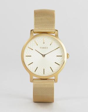 Timex Часы TW2R36100 Skyline. Цвет: золотой