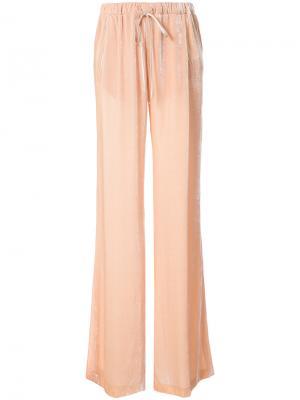 Бархатные брюки палаццо Vionnet. Цвет: розовый и фиолетовый
