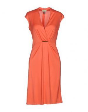 Короткое платье ISSA. Цвет: коралловый