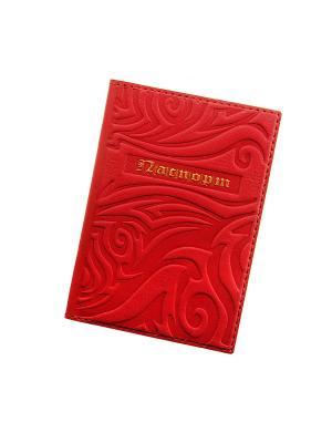 Обложка для паспорта. Коллекция Alex. Кажан. Цвет: красный