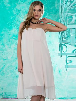 Платье MIMI LA RUE. Цвет: кремовый