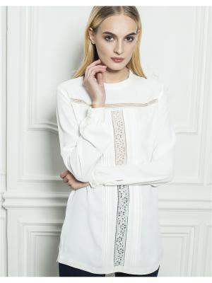 Блузка LO. Цвет: молочный