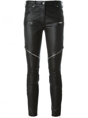 Байкерские брюки на молнии Givenchy. Цвет: чёрный