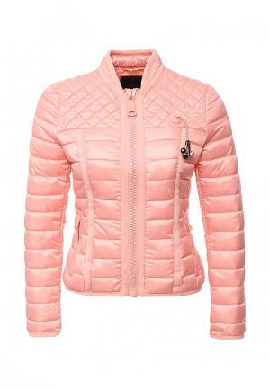 Куртка утепленная Guess Jeans. Цвет: коралловый