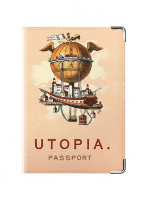Обложка для паспорта гражданина Утопии Tina Bolotina. Цвет: персиковый
