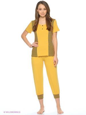 Пижама NICOLETTA. Цвет: горчичный