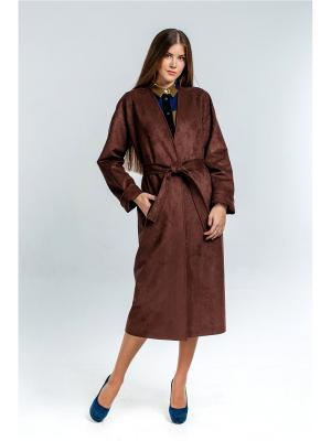 Пальто Exalta. Цвет: темно-коричневый