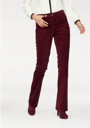 Вельветовые брюки tamaris. Цвет: бордовый