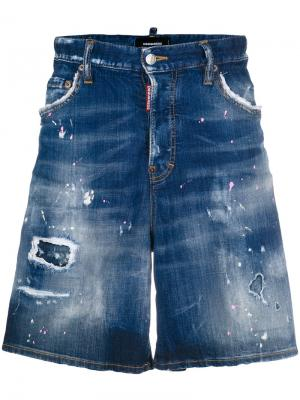 Mid-rise denim shorts Dsquared2. Цвет: синий